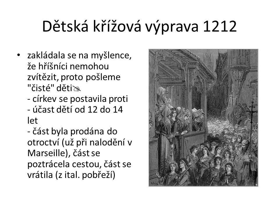 Dětská křížová výprava 1212 zakládala se na myšlence, že hříšníci nemohou zvítězit, proto pošleme