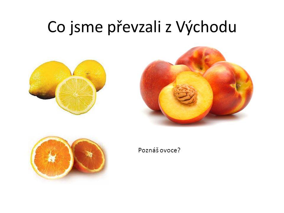 Co jsme převzali z Východu Poznáš ovoce?