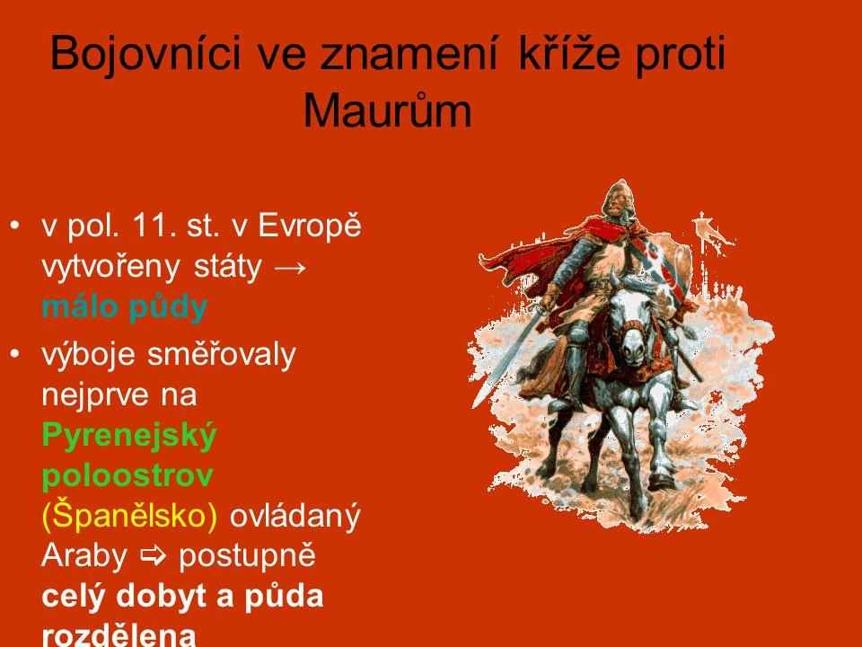 Bojovníci ve znamení kříže proti Maurům v pol.11.