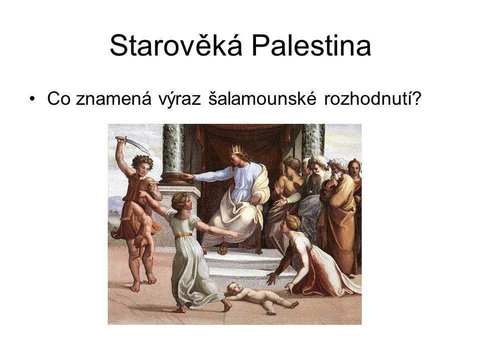 Starověká Palestina Co znamená výraz šalamounské rozhodnutí?