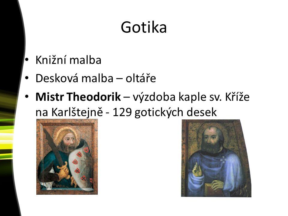 Gotika Knižní malba Desková malba – oltáře Mistr Theodorik – výzdoba kaple sv. Kříže na Karlštejně - 129 gotických desek