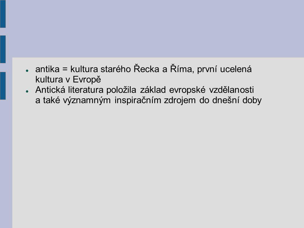Řecká literatura 1.archaické období (do 6.