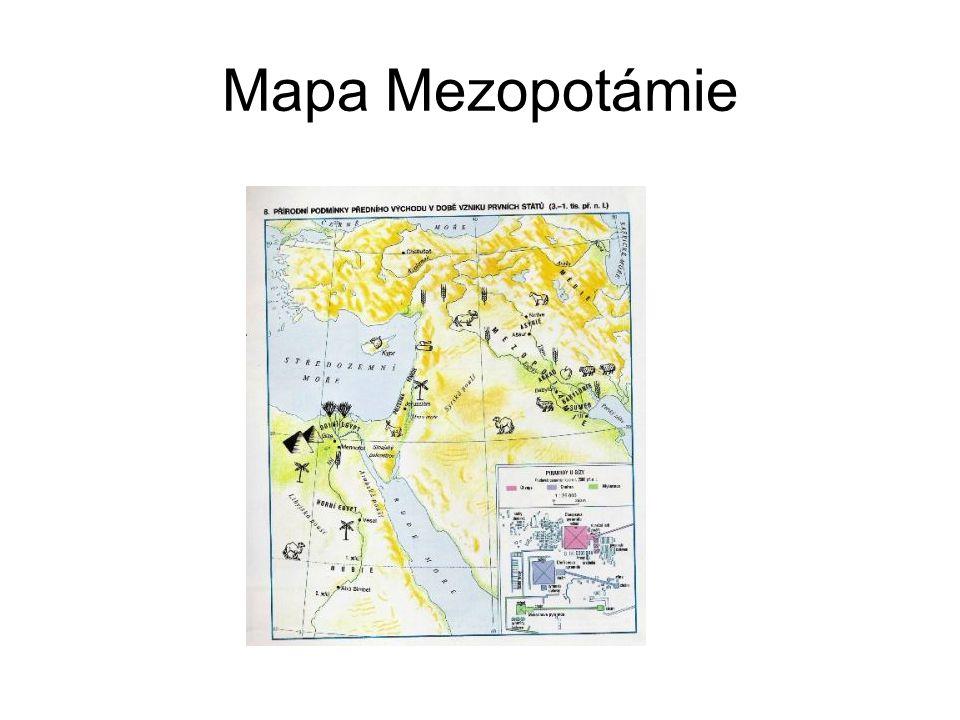 Sumerové Jižní, úrodnější část Mezopotámie měla lepší podklady pro rozvoj civilizace.