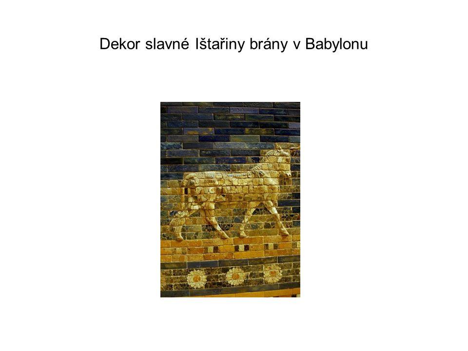 Dekor slavné Ištařiny brány v Babylonu