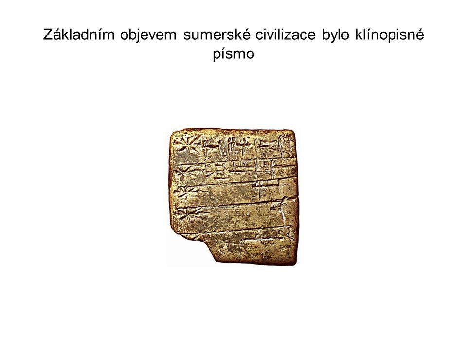 Protože v Mezopotámii byl velký nedostatek kamene, používala se pálená hlína, která byla velmi trvanlivá.