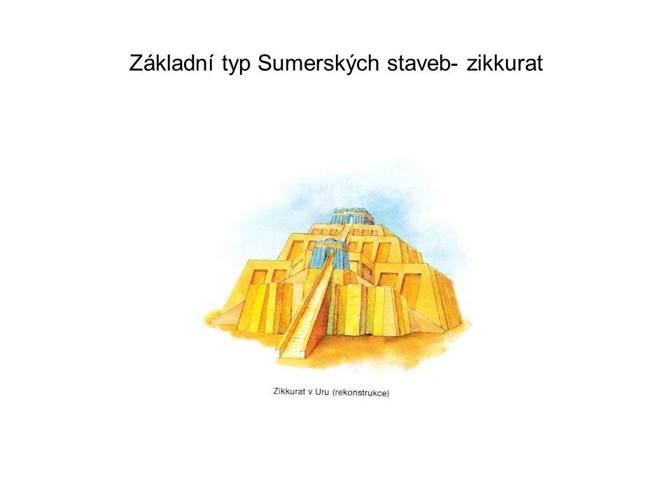 Základní typ Sumerských staveb- zikkurat