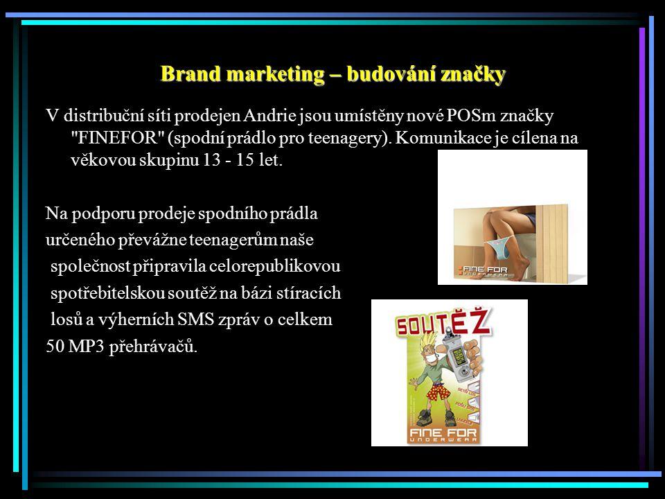 V distribuční síti prodejen Andrie jsou umístěny nové POSm značky