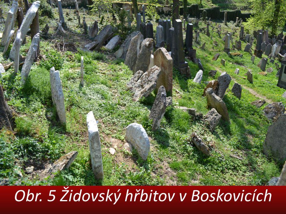 Obr. 5 Židovský hřbitov v Boskovicích