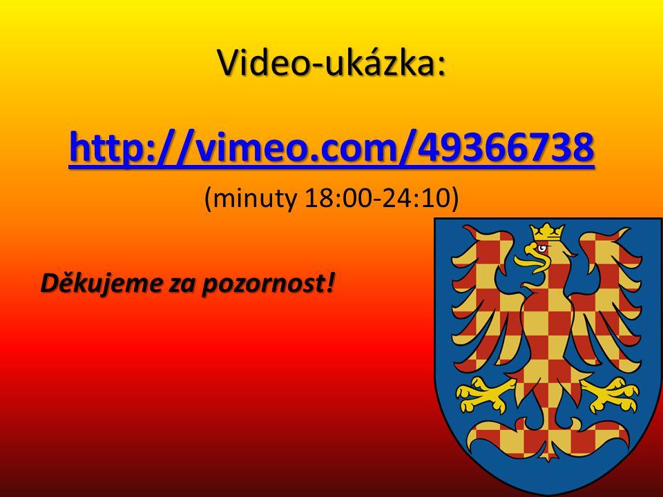 Video-ukázka: http://vimeo.com/49366738 (minuty 18:00-24:10) Děkujeme za pozornost!