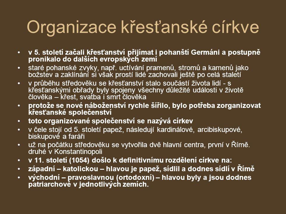 Organizace křesťanské církve v 5.