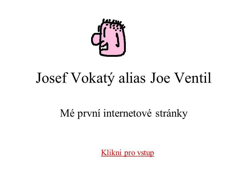 Josef Vokatý alias Joe Ventil Mé první internetové stránky Klikni pro vstup
