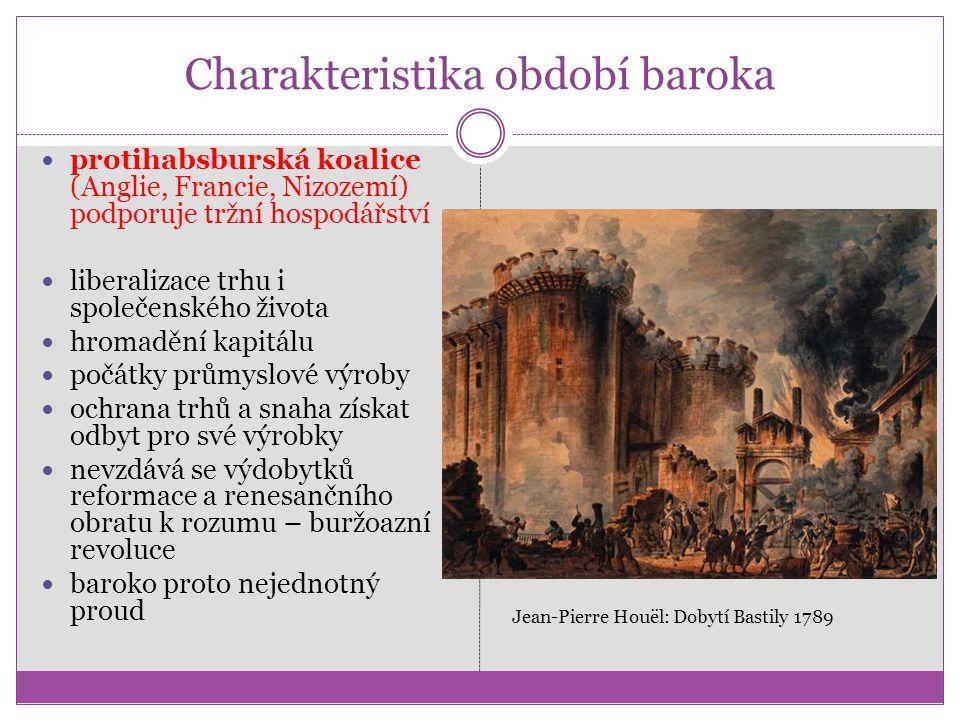 Charakteristika období baroka protihabsburská koalice (Anglie, Francie, Nizozemí) podporuje tržní hospodářství liberalizace trhu i společenského život