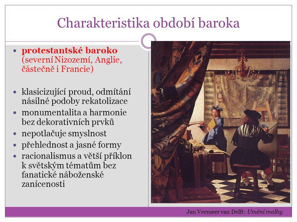 Charakteristika období baroka Termín baroko (z port.