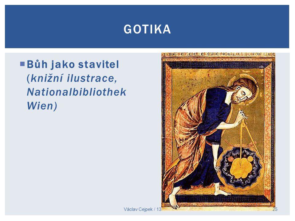  Bůh jako stavitel (knižní ilustrace, Nationalbibliothek Wien) Václav Cejpek / 13. 11. 2014 GOTIKA 25