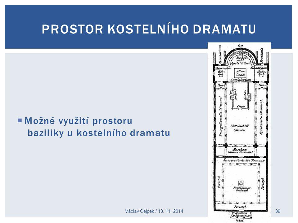 Václav Cejpek / 13. 11. 2014 39 PROSTOR KOSTELNÍHO DRAMATU  Možné využití prostoru baziliky u kostelního dramatu