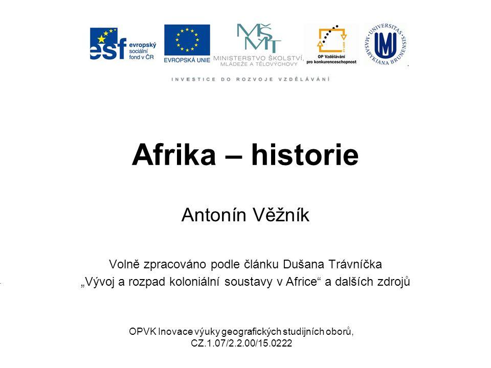 """Dávná historie Antika – mizivé znalosti o subsaharské Africe Středověk – Arabové """"bilad as-súdán = země černých Ghana – 3."""