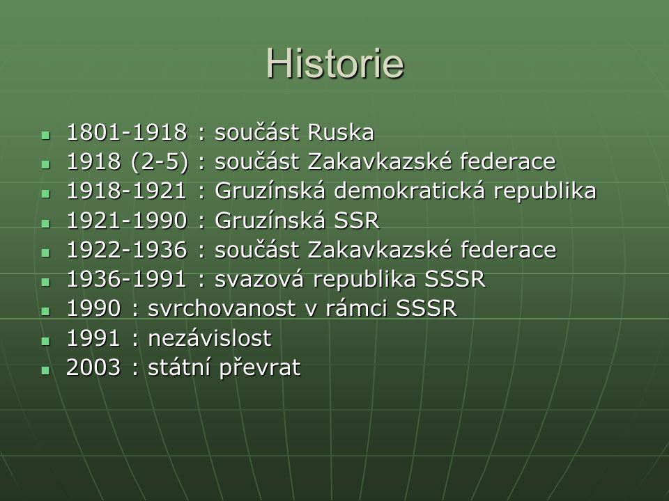 Historie 1801-1918 : součást Ruska 1801-1918 : součást Ruska 1918 (2-5) : součást Zakavkazské federace 1918 (2-5) : součást Zakavkazské federace 1918-