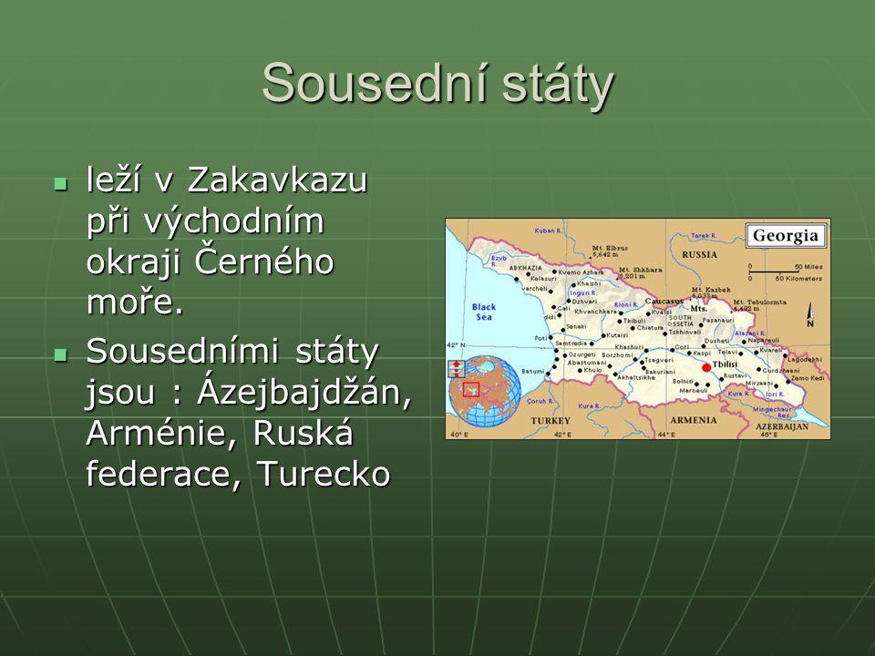 Sousední státy leží v Zakavkazu při východním okraji Černého moře. leží v Zakavkazu při východním okraji Černého moře. Sousedními státy jsou : Ázejbaj
