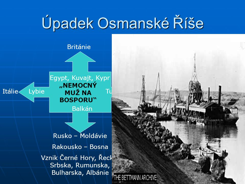 Od konce středověku ovládala Blízký východ a Balkán Úpadek Osmanské říše vytvořil mocenské vakuumÚpadek Osmanské říše vytvořil mocenské vakuum Vznik V