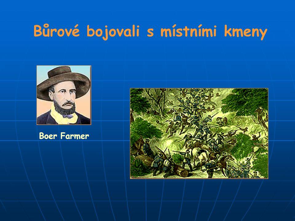 Bůrové bojovali s místními kmeny Boer Farmer