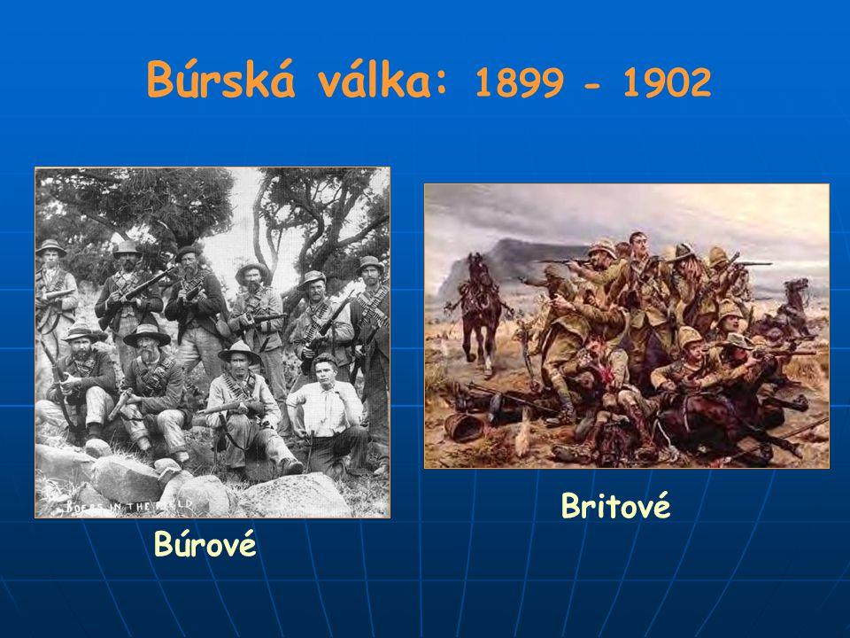 Búrská válka: 1899 - 1902 Búrové Britové