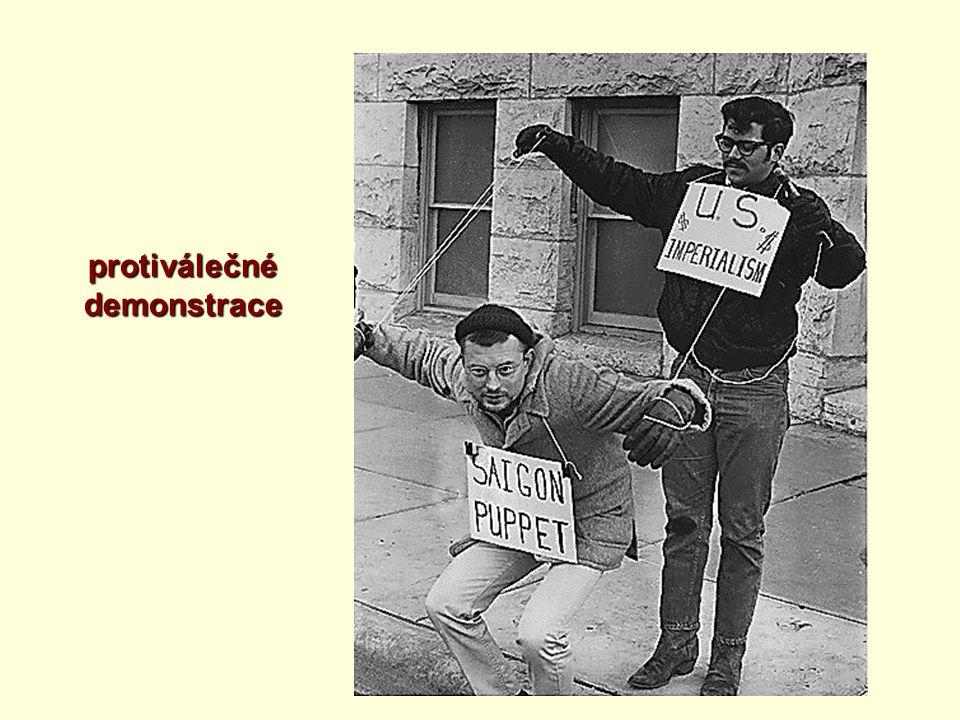 protiválečné demonstrace demonstrace