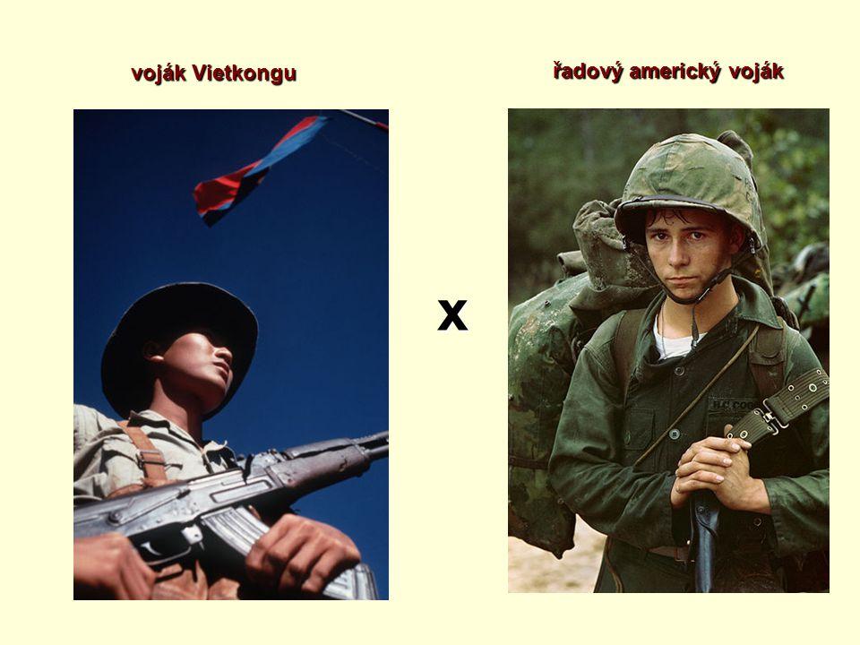 x voják Vietkongu řadový americký voják