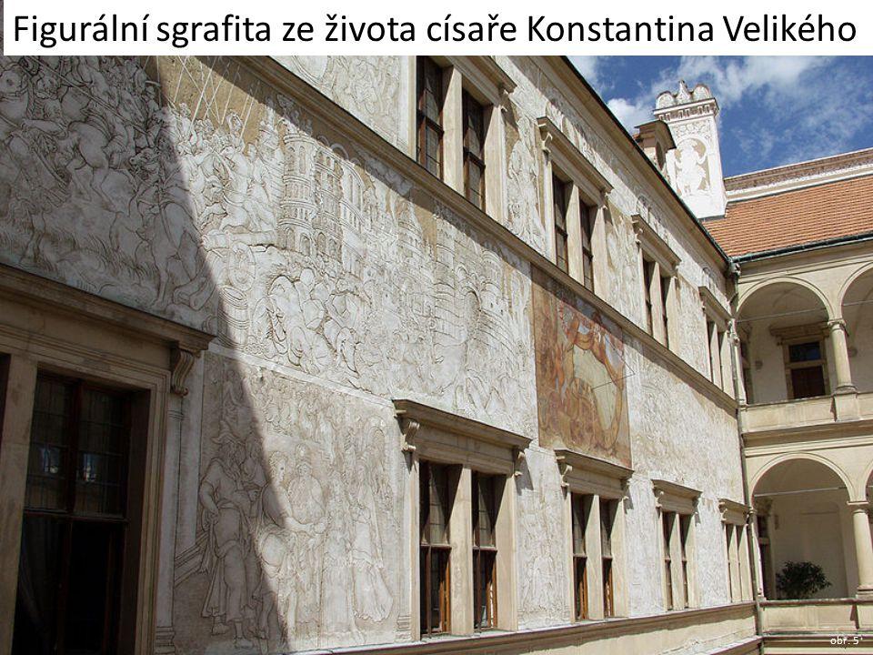 Figurální sgrafita ze života císaře Konstantina Velikého obr. 5