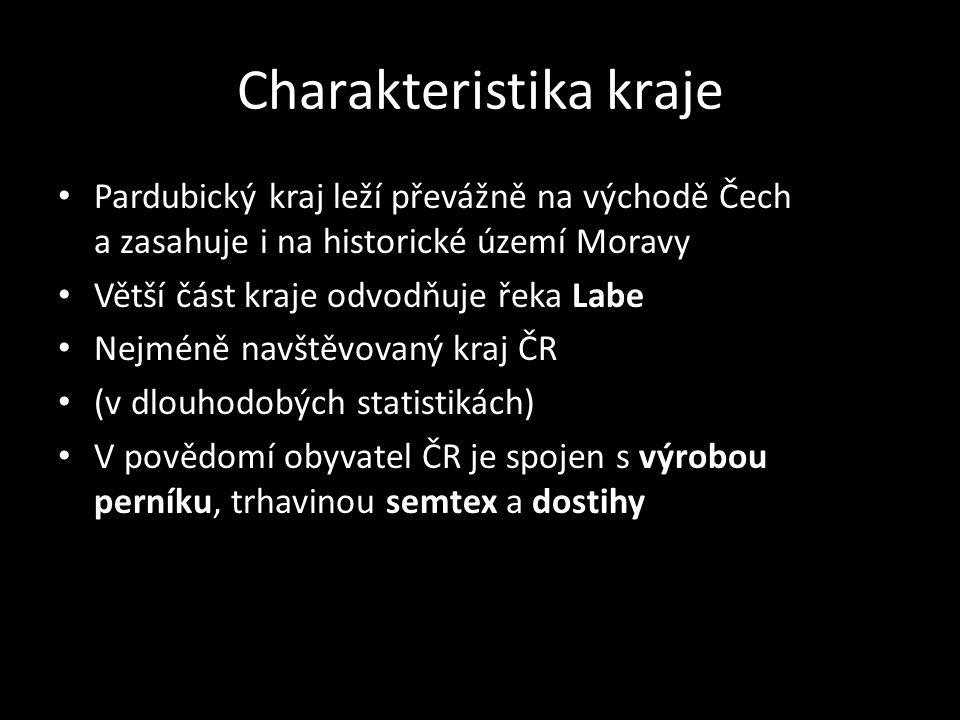 Charakteristika kraje Pardubický kraj leží převážně na východě Čech a zasahuje i na historické území Moravy Větší část kraje odvodňuje řeka Labe Nejmé