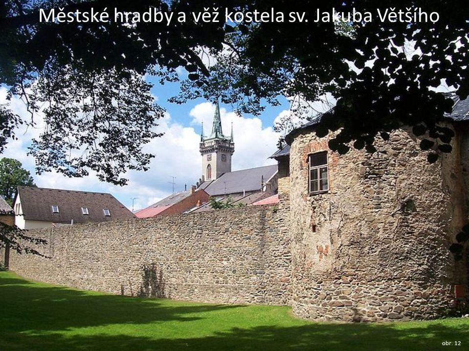 Městské hradby a věž kostela sv. Jakuba Většího obr. 12