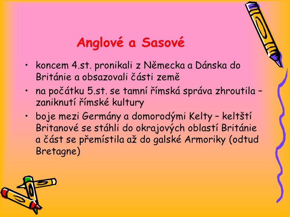 Anglové a Sasové koncem 4.st.
