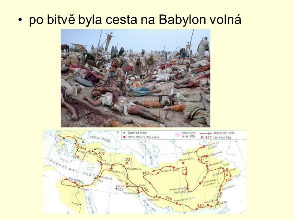 po bitvě byla cesta na Babylon volná