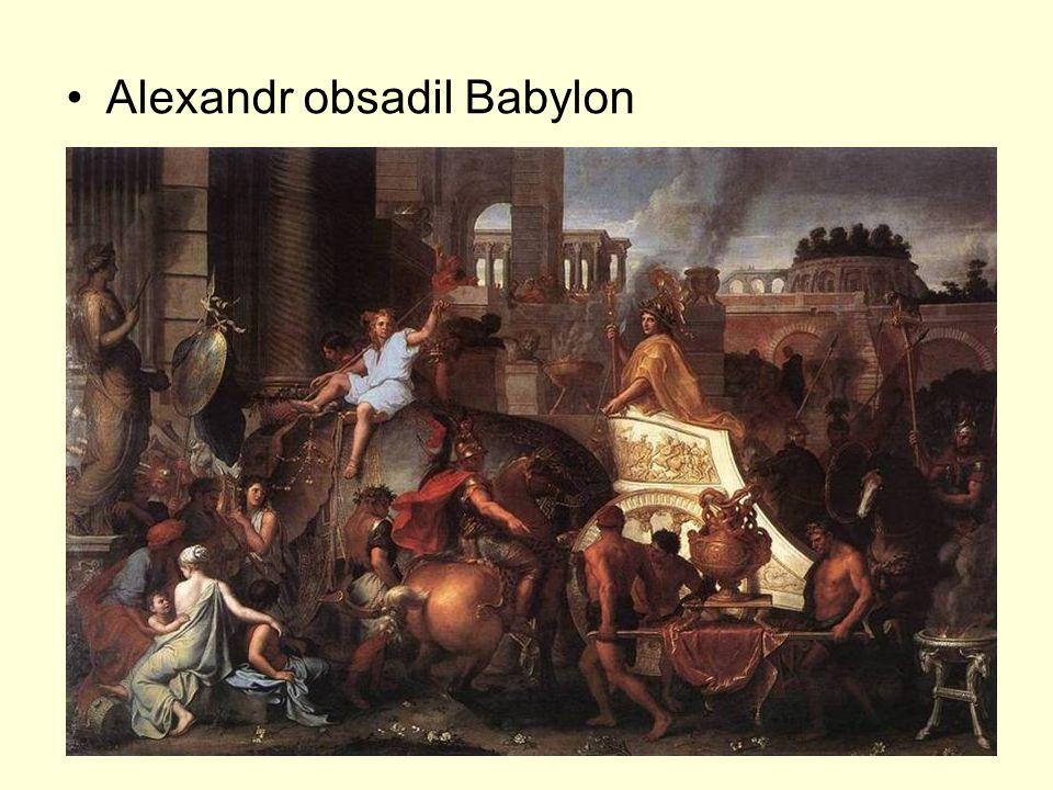 Alexandr obsadil Babylon