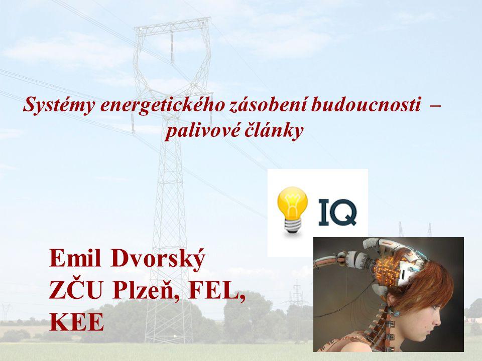 Energetický zdroj = palivový článek Princip činnosti palivového článku je shodný s klasickými elektrickými akumulátory, ve kterých probíhá přímá přeměna chemické energie na energii elektrickou.