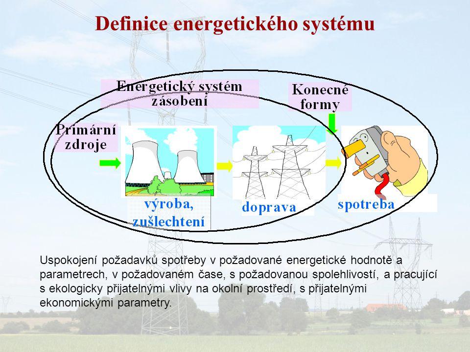 Definice systému systém sloužící k určitému cíli = systém zajištující pokrytí energetických požadavků spotřeby elektřiny v daném teritorii Pro definování systému je nezbytné vymezit objekt, jeho strukturu, vlastnosti a chování