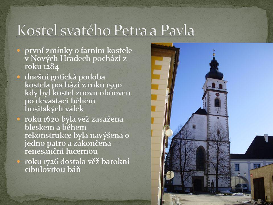klášter servitů stojí u kostela sv.Petra a Pavla, založil ho roku 1677 majitel panství hrabě F.