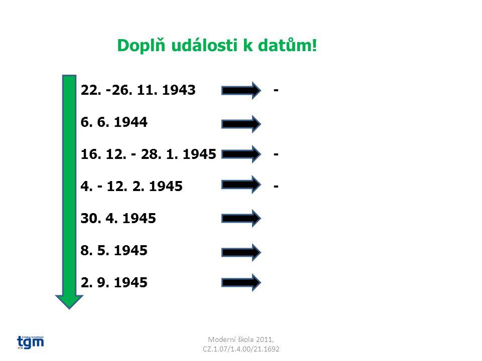 Moderní škola 2011, CZ.1.07/1.4.00/21.1692 Doplň události k datům.