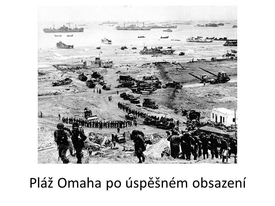 Pláž Omaha po úspěšném obsazení
