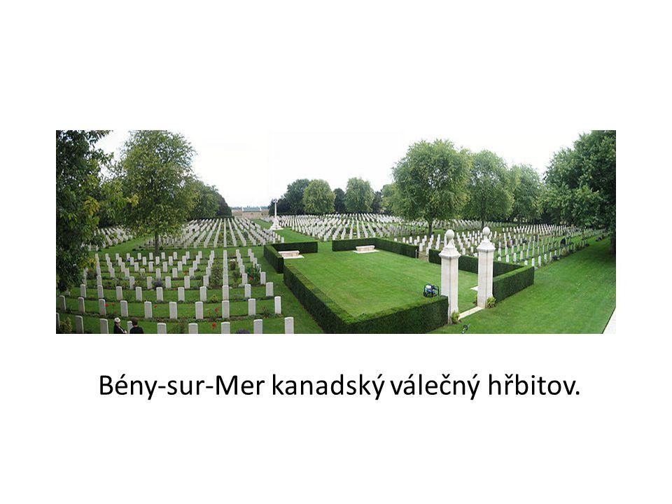 Bény-sur-Mer kanadský válečný hřbitov.