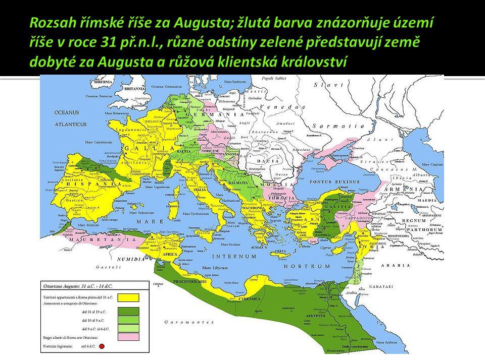 vláda Octaviana Augusta  27 př.n.l.– 14 n.l.