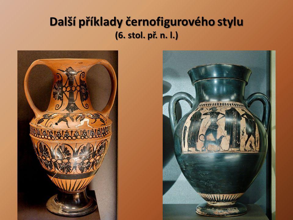 Další příklady černofigurového stylu (6. stol. př. n. l.)