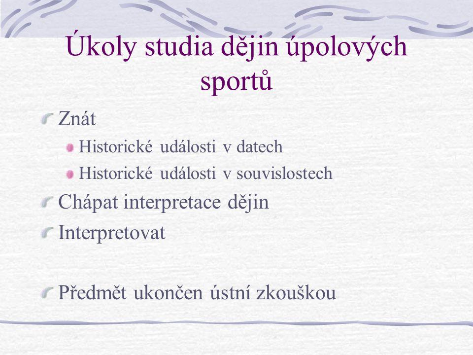 Novodobé olympijské hry 1894 – založení Mezinárodního olympijského výboru (P.