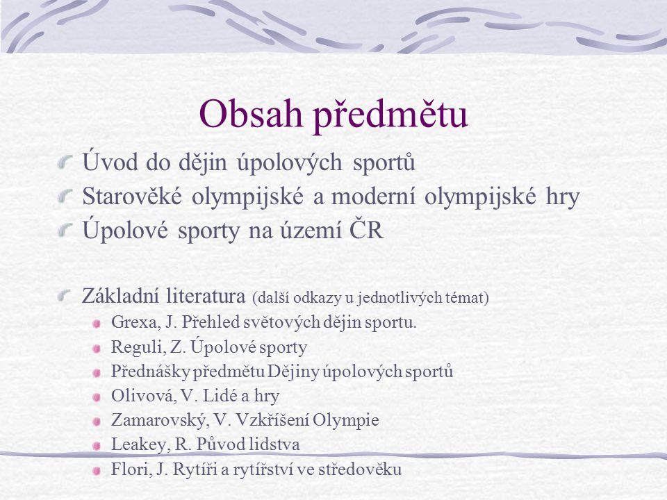 Základní pojmy Olympijské hry Olympiáda Olympismus Rozdíl mezi antikou a součaností