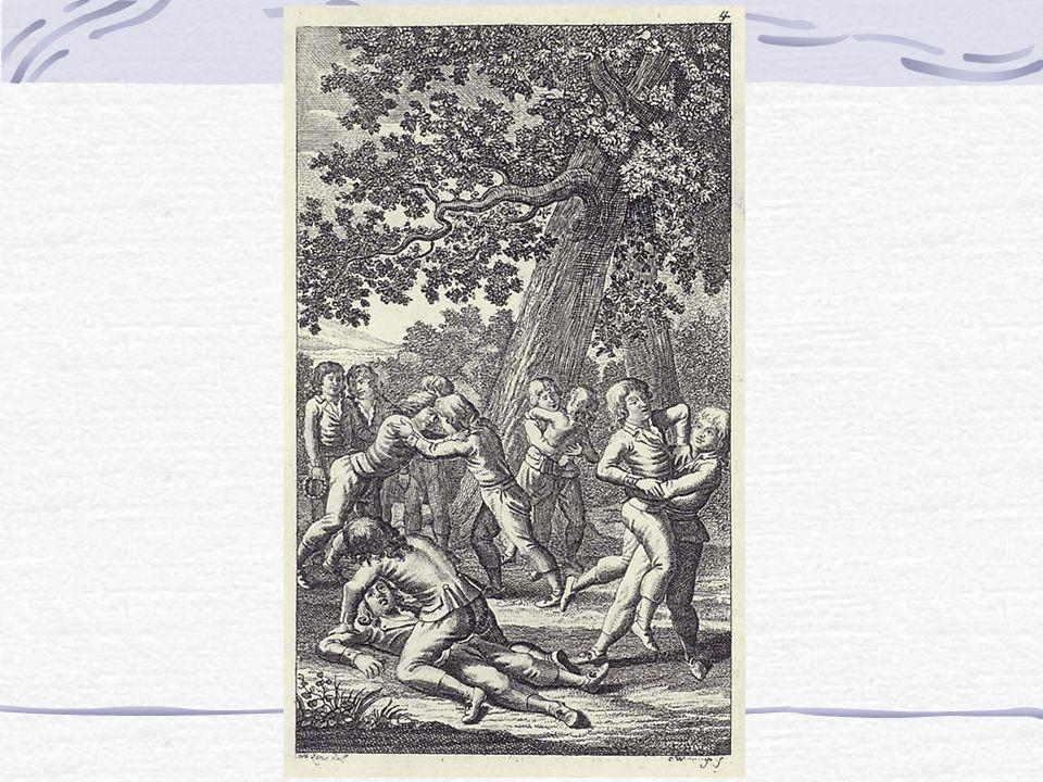 Rytířské akademie (17., 18. stol.) Nástup humanizmu, znovuobjevování antických i rytířských ideálů Rytířské akademie Filantropina (Guts-Muts ve Shephe