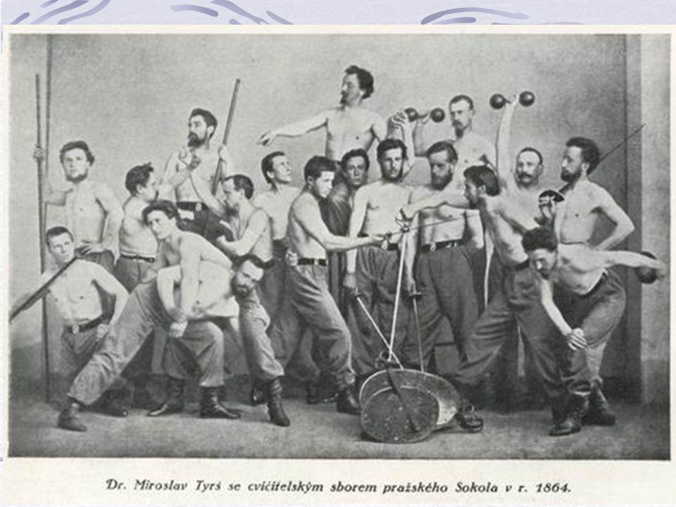 Sokolská soustava 1862 A. bez náčiní: 1. Odpory. Cílem je jenom překonávat odpor spolucvičence a jeho činnost je dopředu známá 2. Zápas. Nejen odpor p
