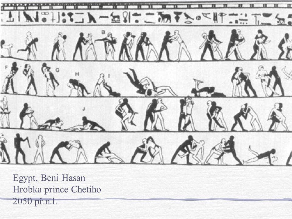 Doba bronzová2500-1100 pnl. 2000 pnl. známé malby v Beni Hasan (Egypt) 1600 pnl. Fresky zachycující boxery (Akrotiri, Thera) 1500 pnl. Rytiny boxerů (