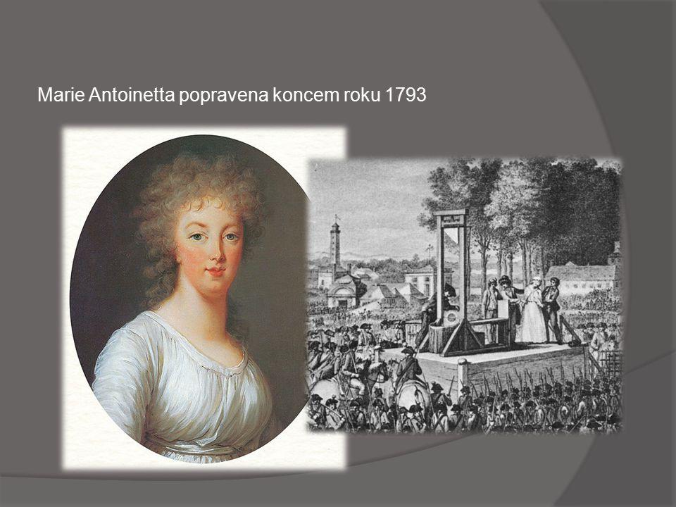Král popraven jako občan Ludvík Kapet v lednu 1793