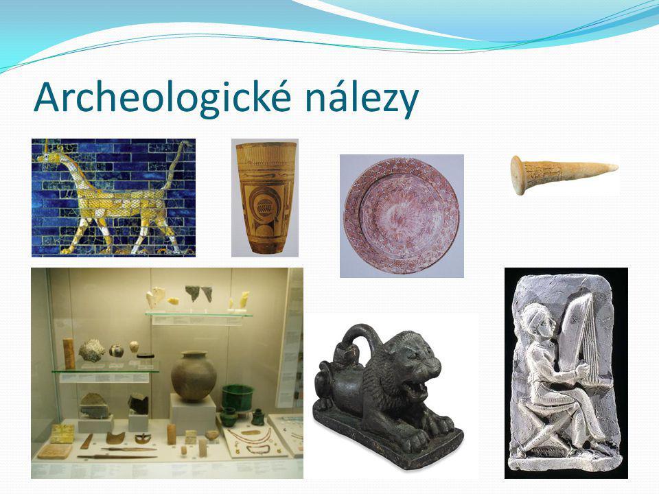 Archeologické nálezy.