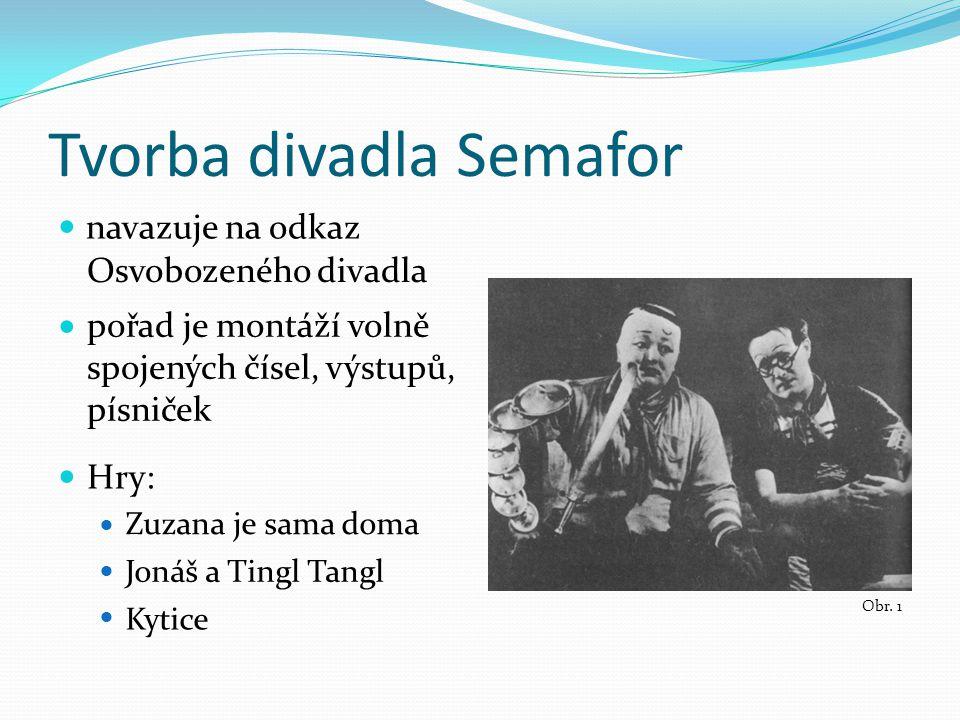 Tvorba divadla Semafor Obr.