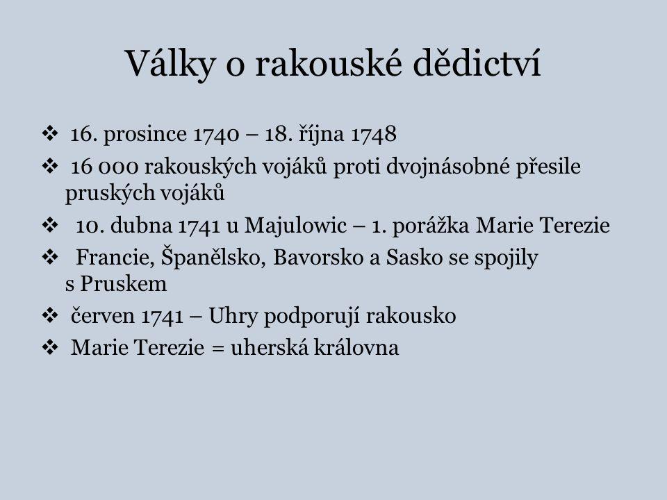 Války o rakouské dědictví  smlouva s Pruskem  26.